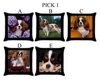 Cavalier King Charles Spaniel Dog Puppy Puppies A E Throw Pillow Case