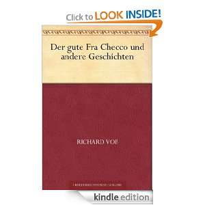 Der gute Fra Checco und andere Geschichten (German Edition) Richard