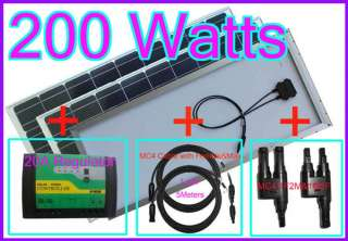 New200w(100w*2)Mono solar panel charger 12VDC battery