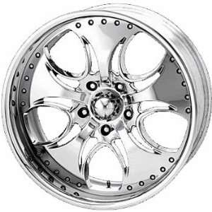 KMC KM755 24x9.5 Chrome Wheel / Rim 5x135 with a 12mm Offset and a 87