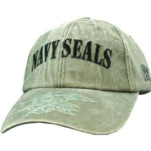 US Navy Seals Olive Drab Green with Trident Cap