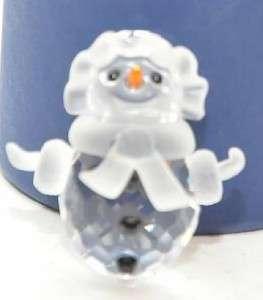 SWAROVSKI CRYSTAL Glass Snow Women Christmas Figurine 655376 w box