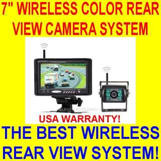WIRELESS REAR VIEW BACKUP CAMERA SYSTEM COLOR CAR PICKUP TRUCK SUV