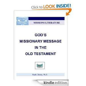 Message in the Old Testament Mark Christy  Kindle Store