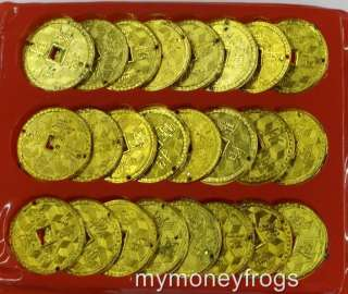 SET Feng Shui Chinese Asian GOLD GOLDEN Money Coins Lucky Charms NEW