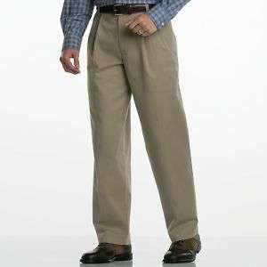 Dockers D4 KHAKI True Chino Relaxed Fit Pleated Pants