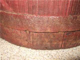 Vintage Antique Primitive Cyprus Wood Wooden Barrel Well Bucket