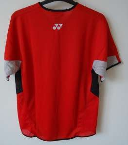 YONEX MENS POLO SHORT SLEEVE SHIRT**RED/BLACK**SIZE S**BNWT**