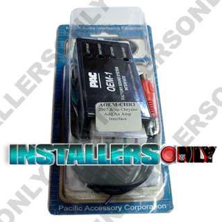 PAC AOEM CHR3 CHRYSLER DODGE JEEP ADD AN AMP INTERFACE