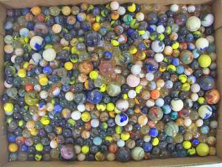 490 Vintage marbles shooter glass multi colored toy collection NR lot