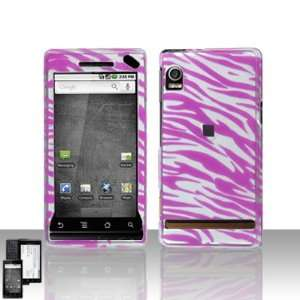 Pink Silver Zebra Design Snap on Hard Cover Protector