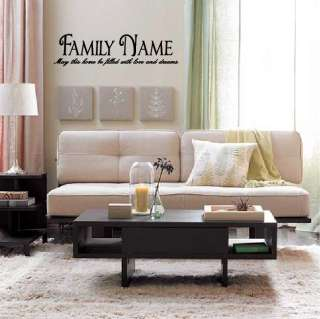 Family Name   Custom Order   Vinyl Wall Decal Quote Modern Home Decor