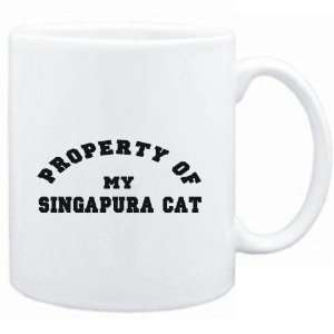 Mug White  PROPERTY OF MY Singapura  Cats