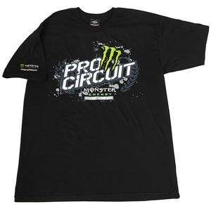 Pro Circuit Monster Dirt Champ T Shirt   X Large/Black