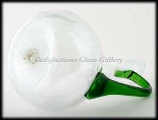 Blenko Emerald Green Art Glass Decanter Flame Stopper