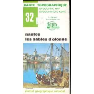 Map 32 France Nantes, Les Sables Dolonne Carte