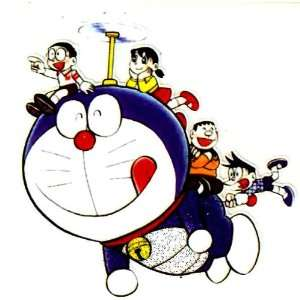 Doraemon and Friends Flying Iron On Transfer for T Shirt ~ Nobita Nobi