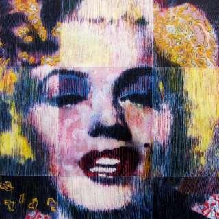 POP ART Colorful MARILYN MONROE Kaufman Style ORIGINAL