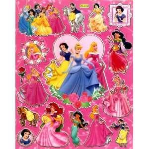 SHEET BL543 ~ Ariel Snow White on Horse Cinderella Aurora Everything