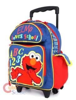 Sesame Street Elmo ABC School Roller Backpack/Bag  12in Medium