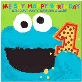 Sesame Street 1st Birthday Cookie Monster Lunch Napkins