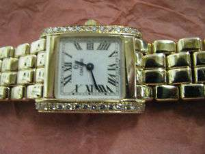 Concord 14K Gold Ladies Diamond Watch Roman #s Dail