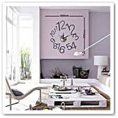 Large Vinyl Designer Decor Wall Clock Sticker Mural Art Decals   Blue
