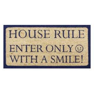 JULIANA HOME LIVING CONTEMPORARY ENTRANCE FLOOR DOOR MAT HOUSE RULES
