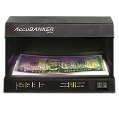 ACCUBANKER D63 COUNTERFEIT MONEY DETECTOR UV WM NEW