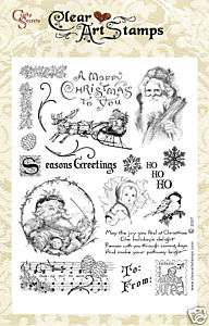 VINTAGE CHRISTMAS Crafty Secrets Clear Acrylic Stamps