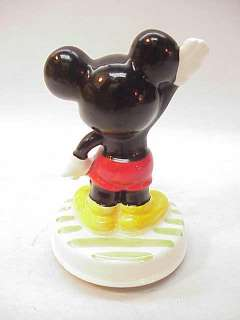 VINTAGE MICKEY MOUSE SCHMID FIGURINE MUSIC BOX JAPAN