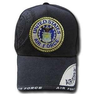 UNITED STATES AIR FORCE US SEAL BLACK CAP HAT ADJ NEW