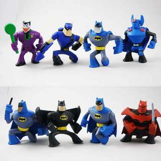 Random 8pc Marvel Super Hero Squad Spiderman 6.5cm Figure Stand