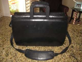 BLACK SMOOTH GLOVE LEATHER TRAVEL PORTFILIO BRIEFCASE BAG $339