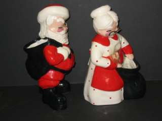 Betty Lou Nichols Santa Claus & Mrs. Claus Planter Vase California