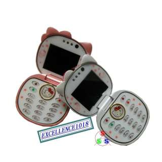 F198 CUTE HELLO KITTY FLIP CELL PHONE MOBILE CAMERA