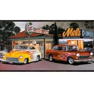 Hot Rods Wallpaper Border: Home Improvement