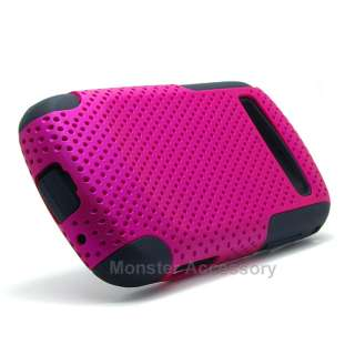 Pink Apex Dual Layer Hard Case Soft Skin Cover for Samsung Admire R720