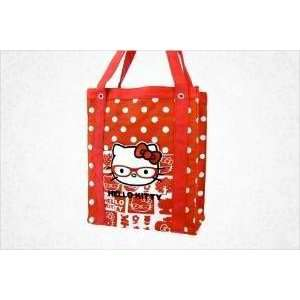 Sanrio Glasses Hello Kitty Canvas Tote Bag Red Everything