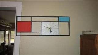 Mid Century Modern Sunbeam Retro Wall Clock George Nelson Eames Era