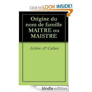 Origine du nom de famille CALMÉJANE (Oeuvres courtes) (French Edition)