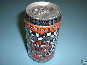 1994 DAYTONA HARLEY DAVIDSON FULL UNOPENED BEER CAN
