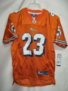 Miami Dolphins Ronnie Brown Orange EQP NFL Youth Jersey Large $