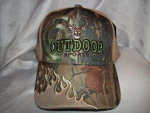 OUTDOOR SPORTS DEER BUCK HUNTING HAT CAP KHAKI & CAMO