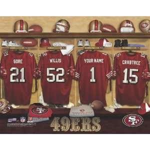 Personalized San Francisco 49ers Locker Room Print