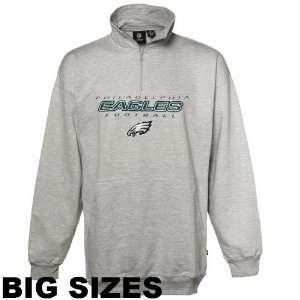 NFL Philadelphia Eagles Big & Tall Icon Quarter Zip Crew