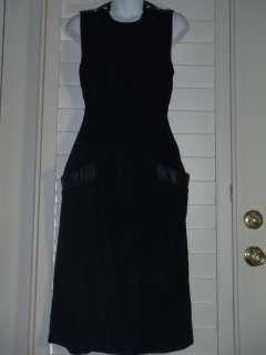 Vintage Geary Roark Kamisato black velvet dress size