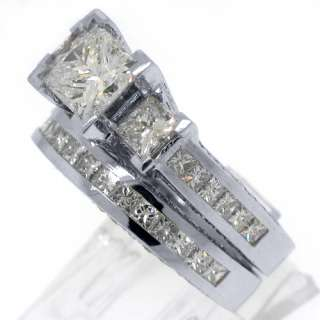 CARAT DIAMOND ENGAGEMENT RING WEDDING BAND BRIDAL SET PRINCESS