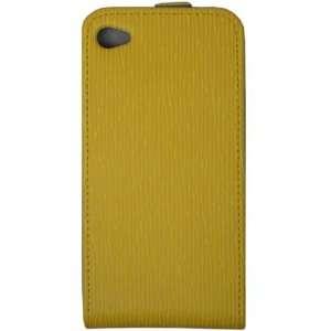 Malcom Distributors Yellow Pattern Flip Phone Case for Apple iPhone 4