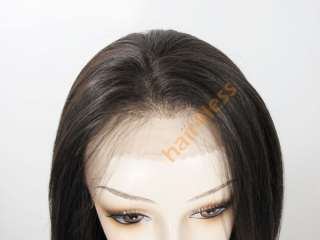100% REMY Human Hair Lace Front Straight Full Wig MIRACLE